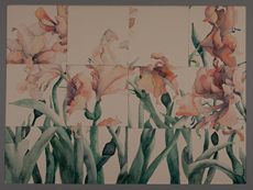 Watercolor Floral Deconstruction/Reconstruction